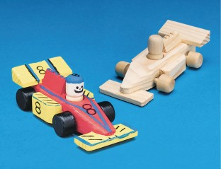 Mini Unfinished Wood Race Cars
