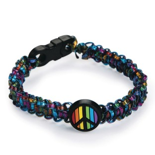 Rainbow Peace Sign Bracelets Craft Kit