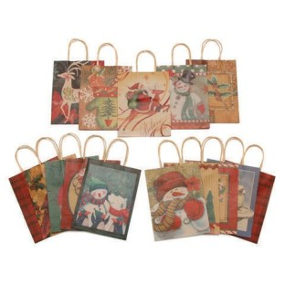 Christmas Natural Craft Gift Bags