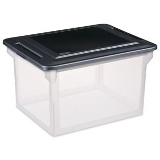 Sterilite® File Storage Box Letter/Legal with Lid