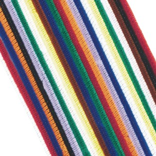 buy chenille stems pipe cleaners 12 x 6mm assorted at s s worldwide