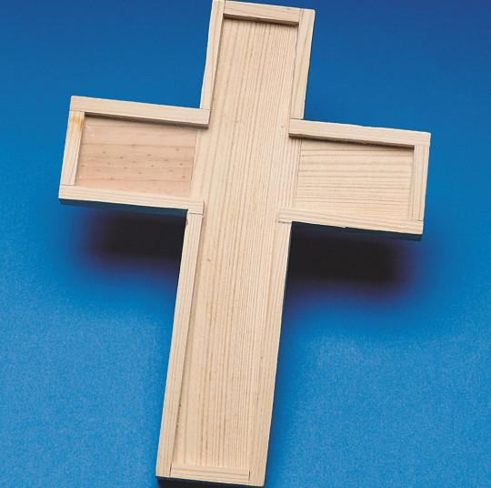Buy wooden cross trivet at s s worldwide for Wooden craft crosses wholesale