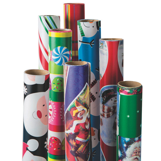 buy best value 4 roll assorted christmas gift wrap at s s worldwide