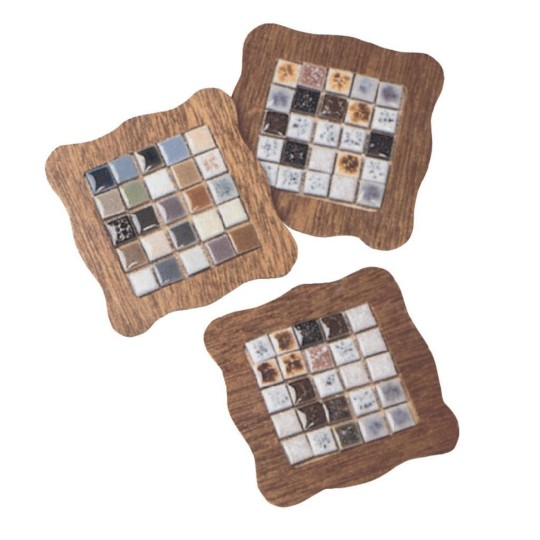 Buy tiny tile coasters craft kit at s s worldwide for Mosaic tile for crafts