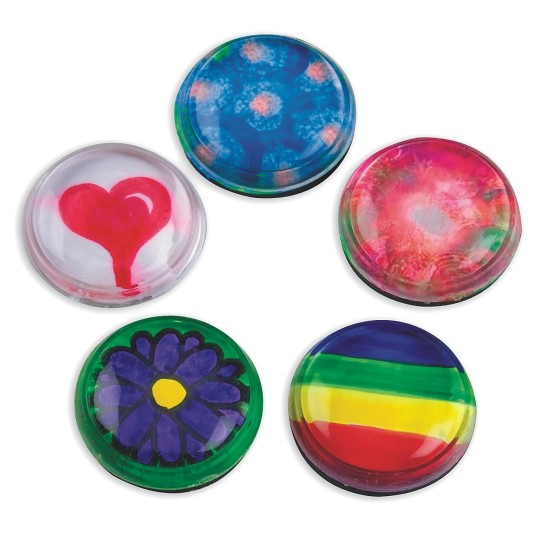 Buy acrylic stone magnet craft kit at s s worldwide for Small magnets for crafts