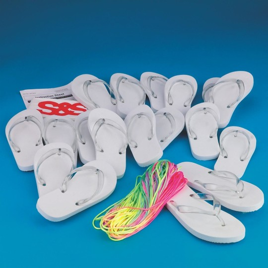 Buy adult size flip flops craft kit at s s worldwide for Flip flops for crafts
