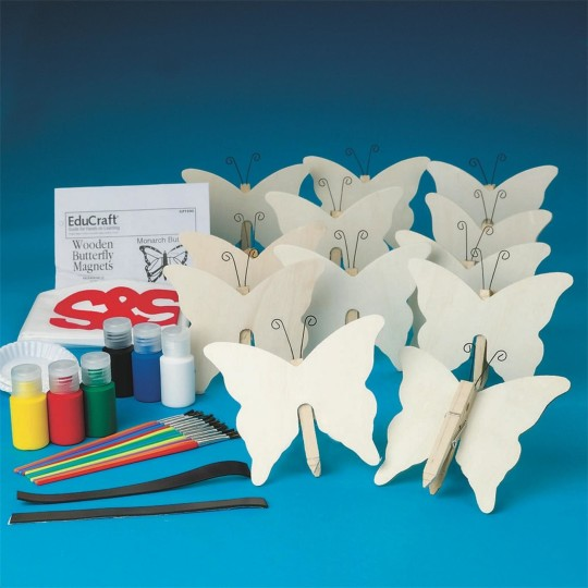 Buy butterfly clothespin magnets craft kit at s s worldwide for Where to buy magnets for crafts