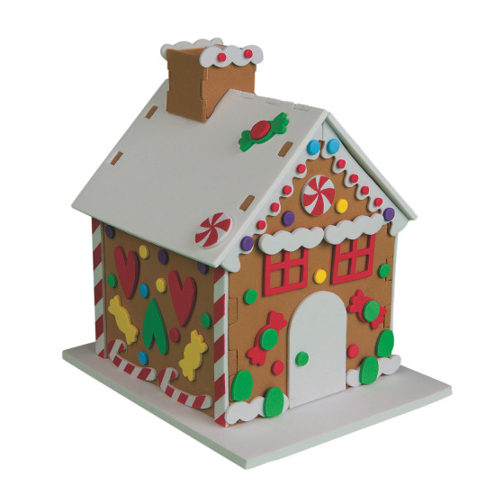 Buy foam gingerbread houses craft kit at s worldwide