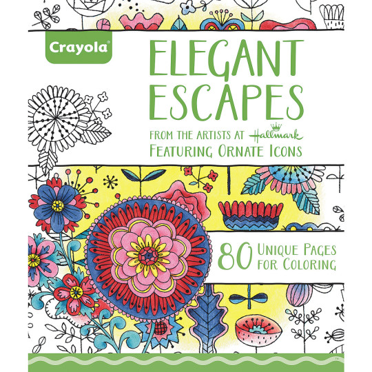 Buy crayola elegant escapes adult coloring book at s s Coloring book for adults walmart