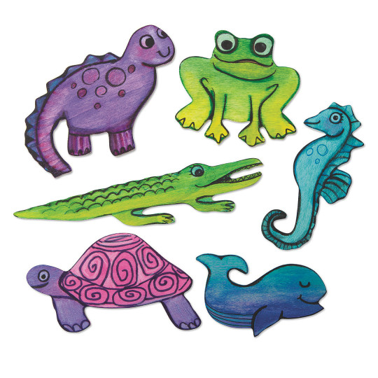 buy unfinished wooden cutouts animals at s s worldwide