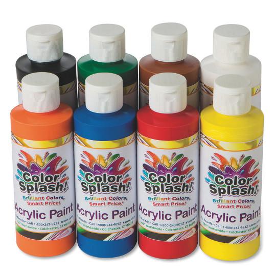 Buy 8-oz. Color Splash!® Acrylic Paint Assortment at S&S Worldwide