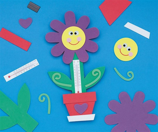 Buy Flower Thermometer Magnet Craft Kit At Ss Worldwide