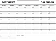 Paper Activity Calendars  (pack of 12)