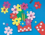 Foam Magnet Flower Pocket© Holder Craft Kit (makes 12)