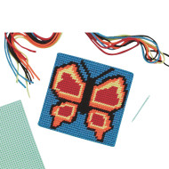 Butterfly Needlepoint Craft Kit (makes 12)
