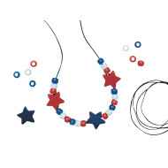Patriotic Necklace Craft Kit (makes 12)