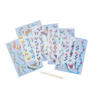 Butterfly Rub-on Decor  (pack of 12)