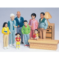 African-American Play Family  (set of 8)