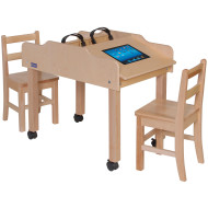 Double-Sided Single Wide Tablet Tables