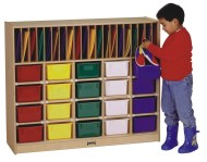 Classroom Organizer with Clear Trays