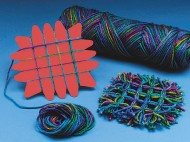Yarn Weaving Coasters Craft Kit (makes 12)