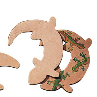 Leather Shape - Gecko  (pack of 25)