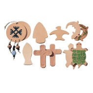 Leather Shapes - Assorted  (pack of 25)