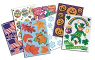 Holiday-Themed Window Clings (pack of 42)