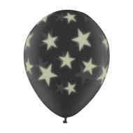 "11"" Latex Glow-in-the-Dark Star Balloons  (pack of 25)"