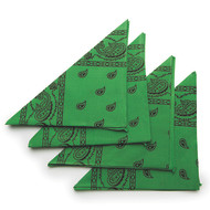 Green Bandanas (pack of 12)