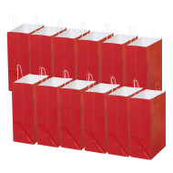 Laminated Large Gift Bags, Red (pack of 12)