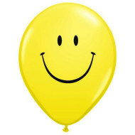 "11"" Yellow Smile Balloons  (bag of 100)"