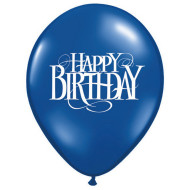 "11"" Happy Birthday Superscript Balloon  (bag of 100)"