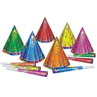 Prismatic Birthday Party Hats  (pack of 6)