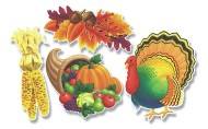 Thanksgiving Cutouts  (pack of 24)