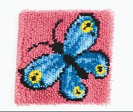 "Butterfly Latch Hook Kit, 12""x12"""