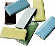 "1""x1/2"" Mosaic Tile Shapes - Rectangle, 5lb.  (bag of 580)"