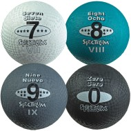 "8-1/2"" Spectrum™ 5-in-1 Playground Balls, Numbers 0, 7, 8 & 9 (set of 4)"