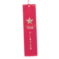 Award Ribbons Team Player-Red  (pack of 50)