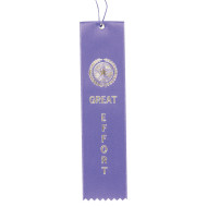 Award Ribbons Great Effort-Purple  (pack of 50)
