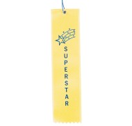 Award Ribbons Superstar-Yellow  (pack of 50)