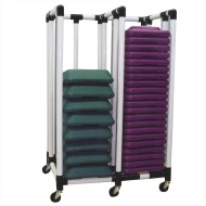 Compact Health Club Step Cart
