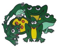 Poly Frogs (set of 6)