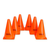 "Orange Spectrum™ Cones, 9""  (set of 6)"