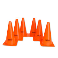 "Orange Spectrum™ Cones, 12"" (set of 6)"