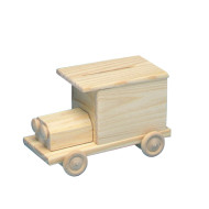 Unfinished Wood Bank Truck Kit, Unassembled