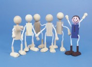 Unfinished Posable Wood Dolls (pack of 6)
