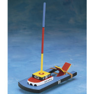 Unfinished Wooden Paddle Boat, Unassembled (pack of 12)