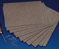 Unfinished Medium Grain Sandpaper (pack of 12)