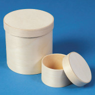 Unfinished Round Chipwood Boxes (set of 12)